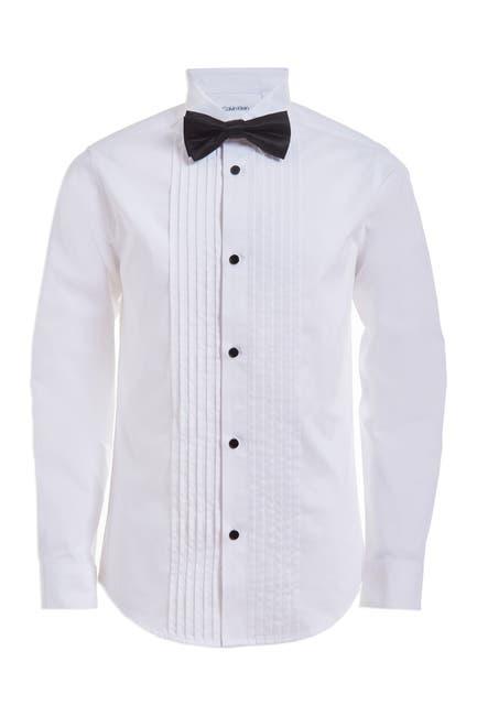 Image of Calvin Klein Boxed Tuxedo Shirt w/ Bowtie