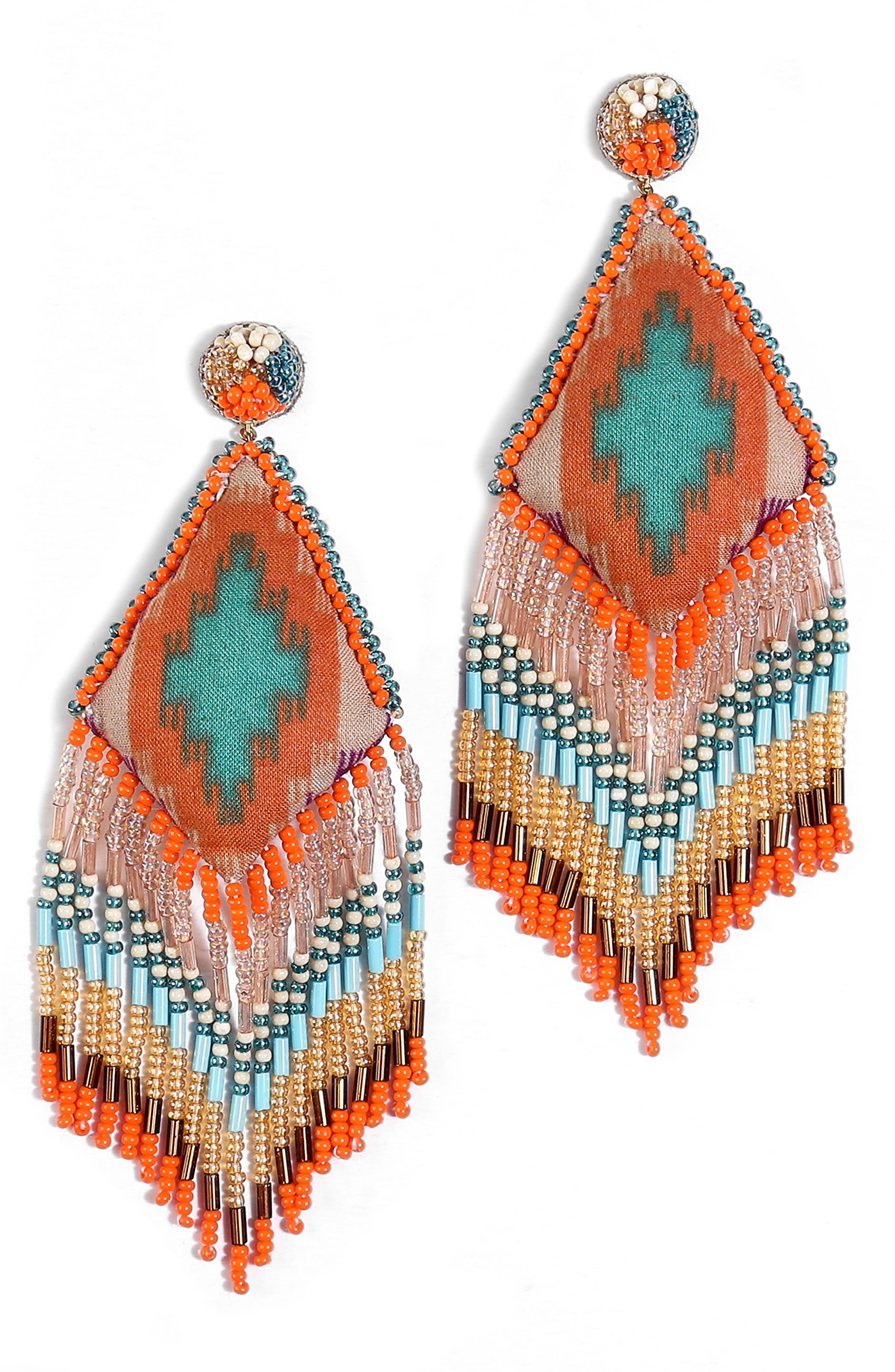 Ruhi Beaded Drop Earrings