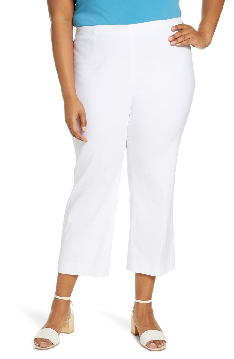 NIC+ZOE Wonder Stretch Crop Pants, Main, color, PAPER WHITE