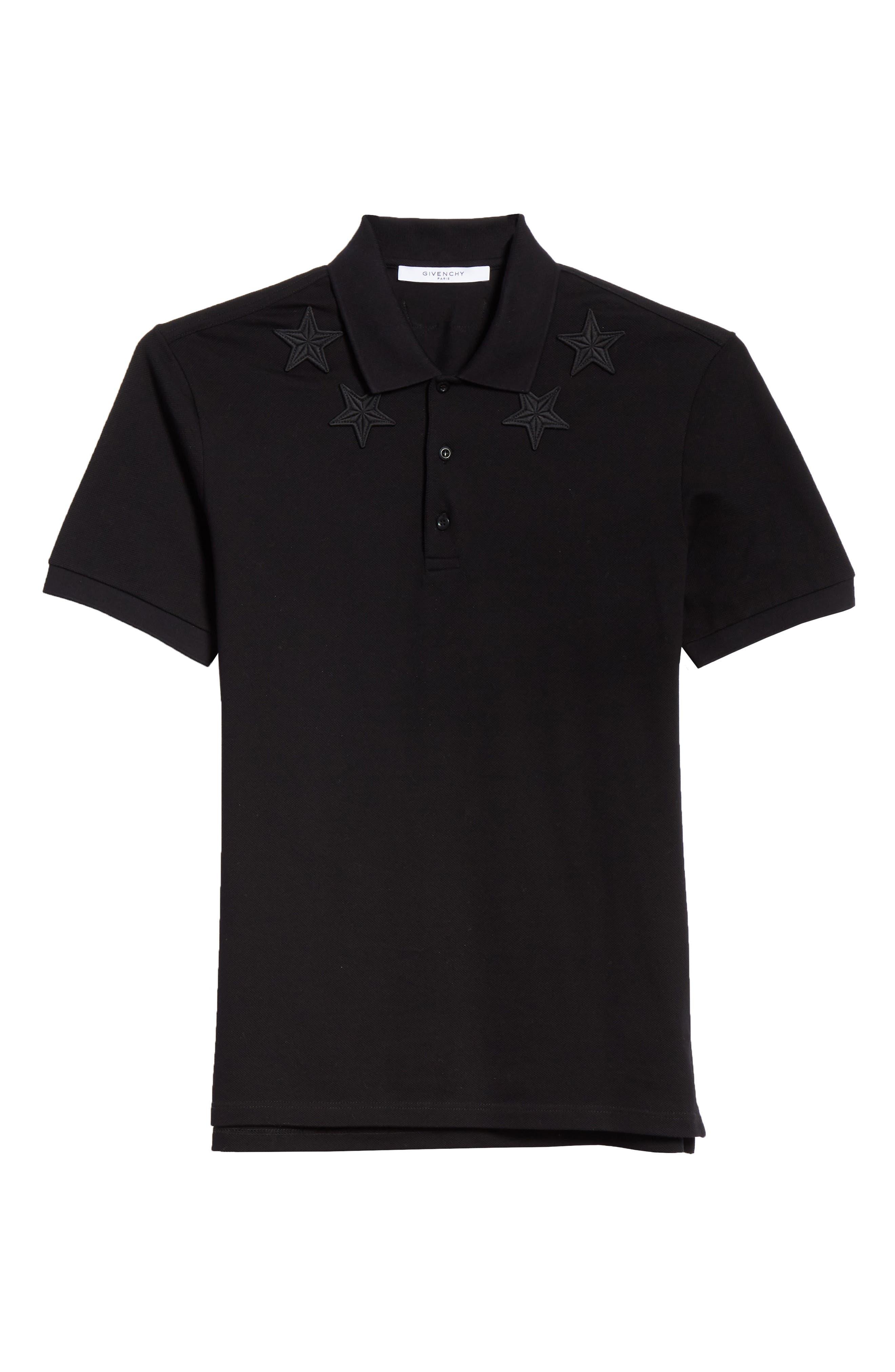 ,                             Star Polo Shirt,                             Alternate thumbnail 6, color,                             FADED BLACK