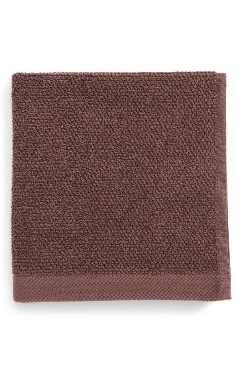 UGG<SUP>®</SUP> Classic Luxe Wash Towel, Main, color, RAISIN