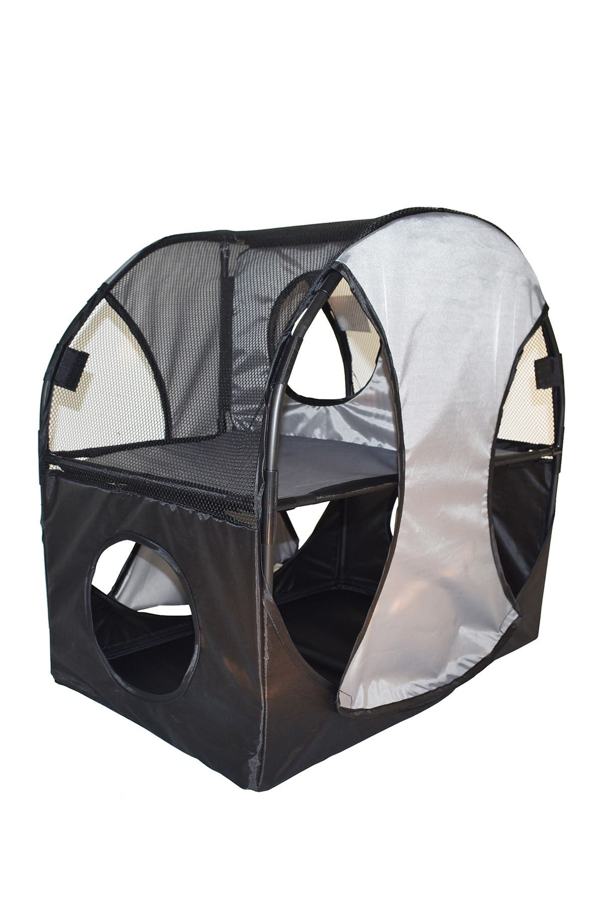 Image of PETKIT Grey/Black Kitty-Play Obstacle Travel Collapsible Soft Folding Pet Cat House
