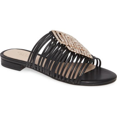 Cecelia New York Darleen Embellished Sandal, Black