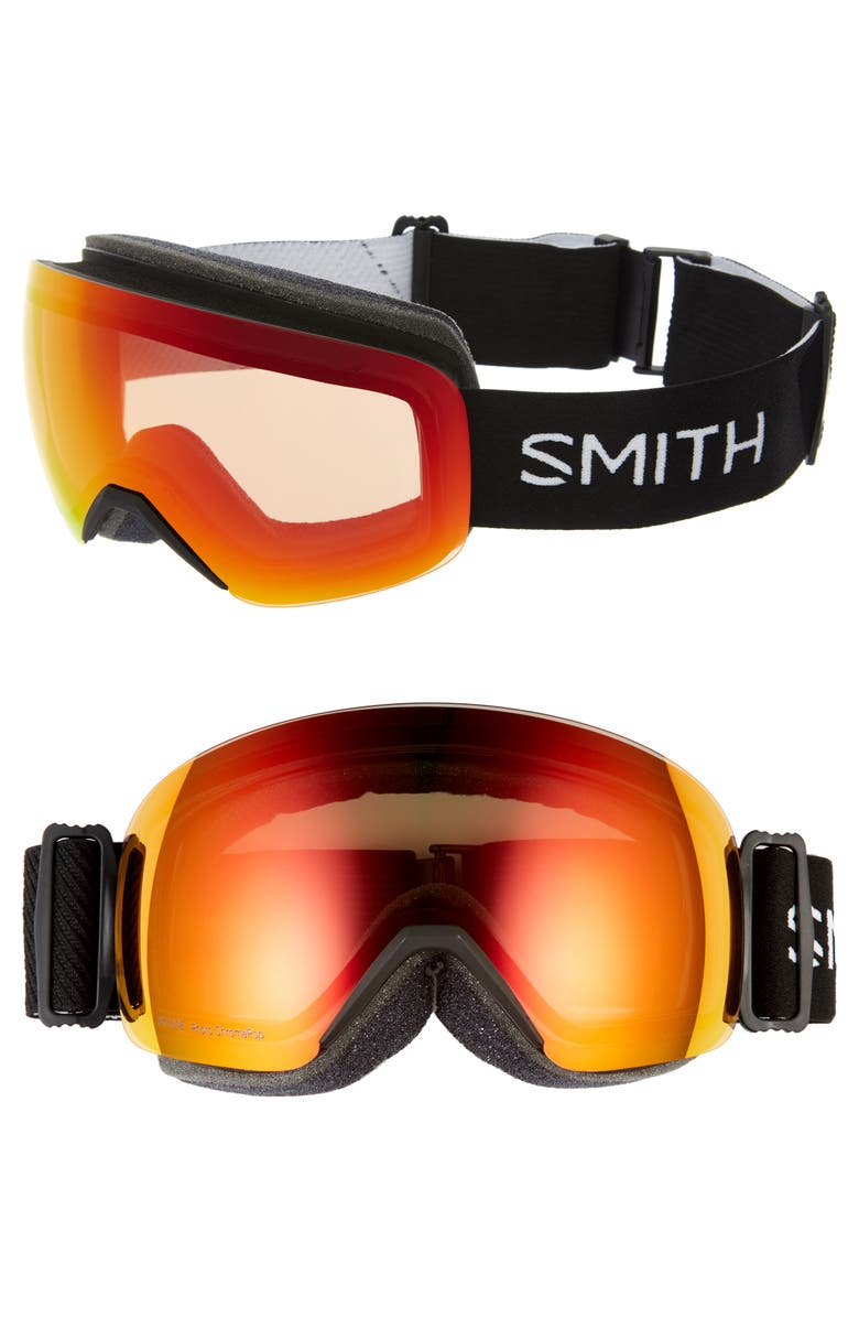 SMITH Skyline 205mm Special Fit ChromaPop Snow Goggles, Main, color, BLACK/ ORANGE