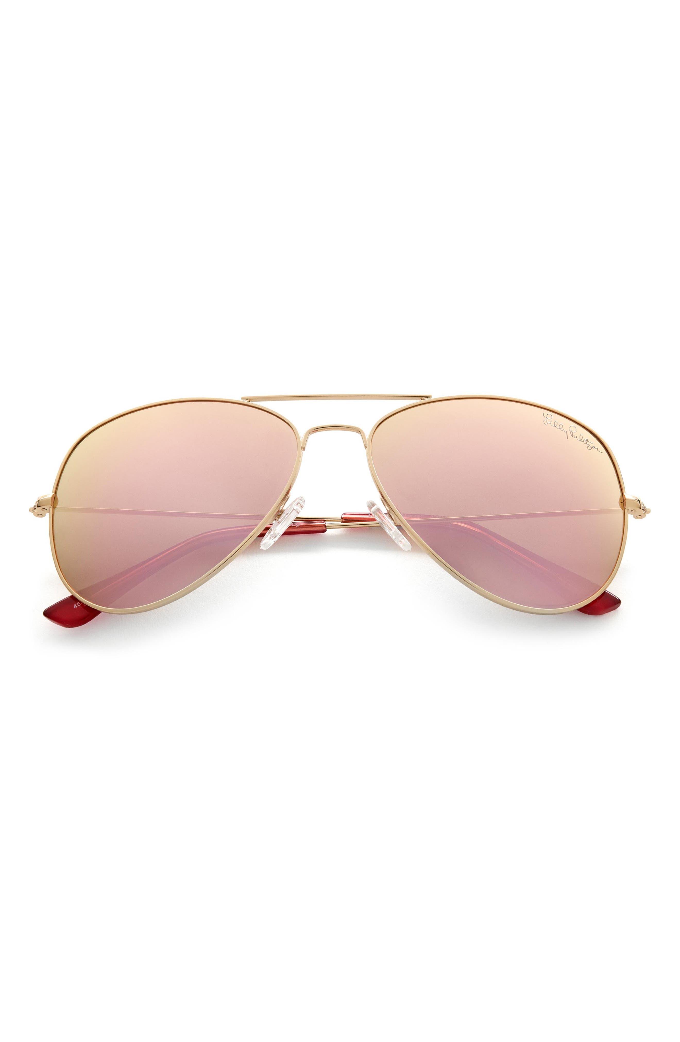 Women's Lilly Pulitzer Lexy 59mm Polarized Aviator Sunglasses