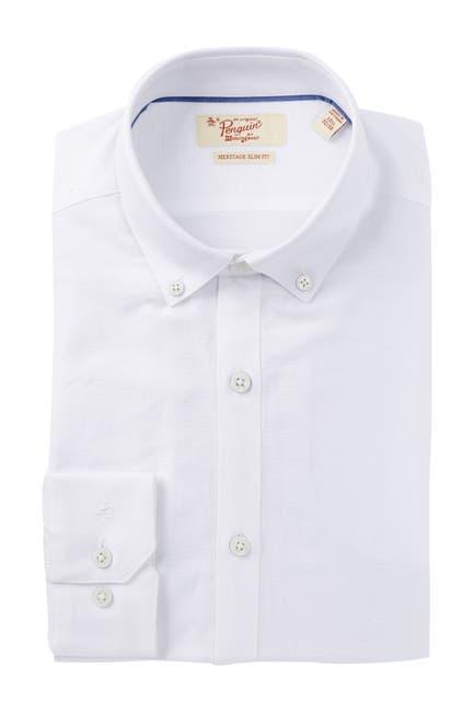 Image of Original Penguin Oxford Solid Heritage Slim Fit Dress Shirt