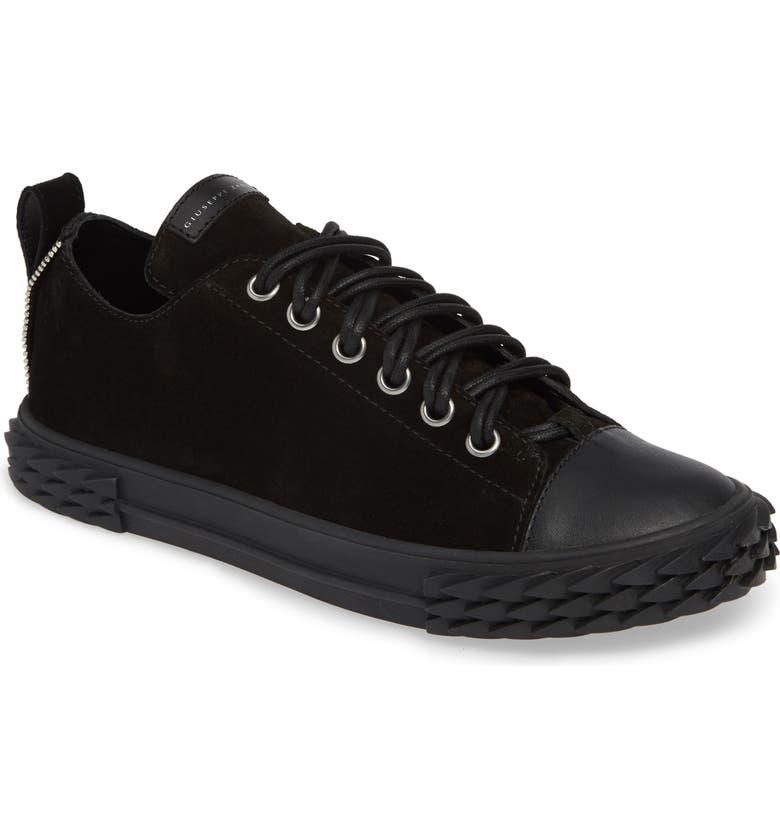 GIUSEPPE ZANOTTI Double Lace Sneaker, Main, color, NERO/ BLACK
