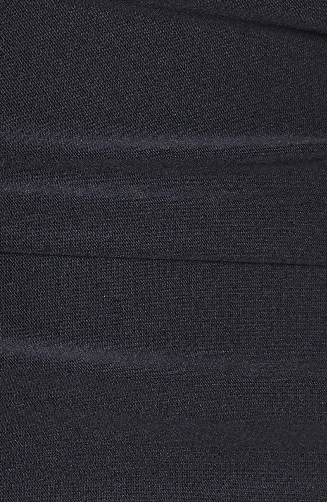 Badgley Mischka Dip Back Maillot Swimsuit, Main, color, 001