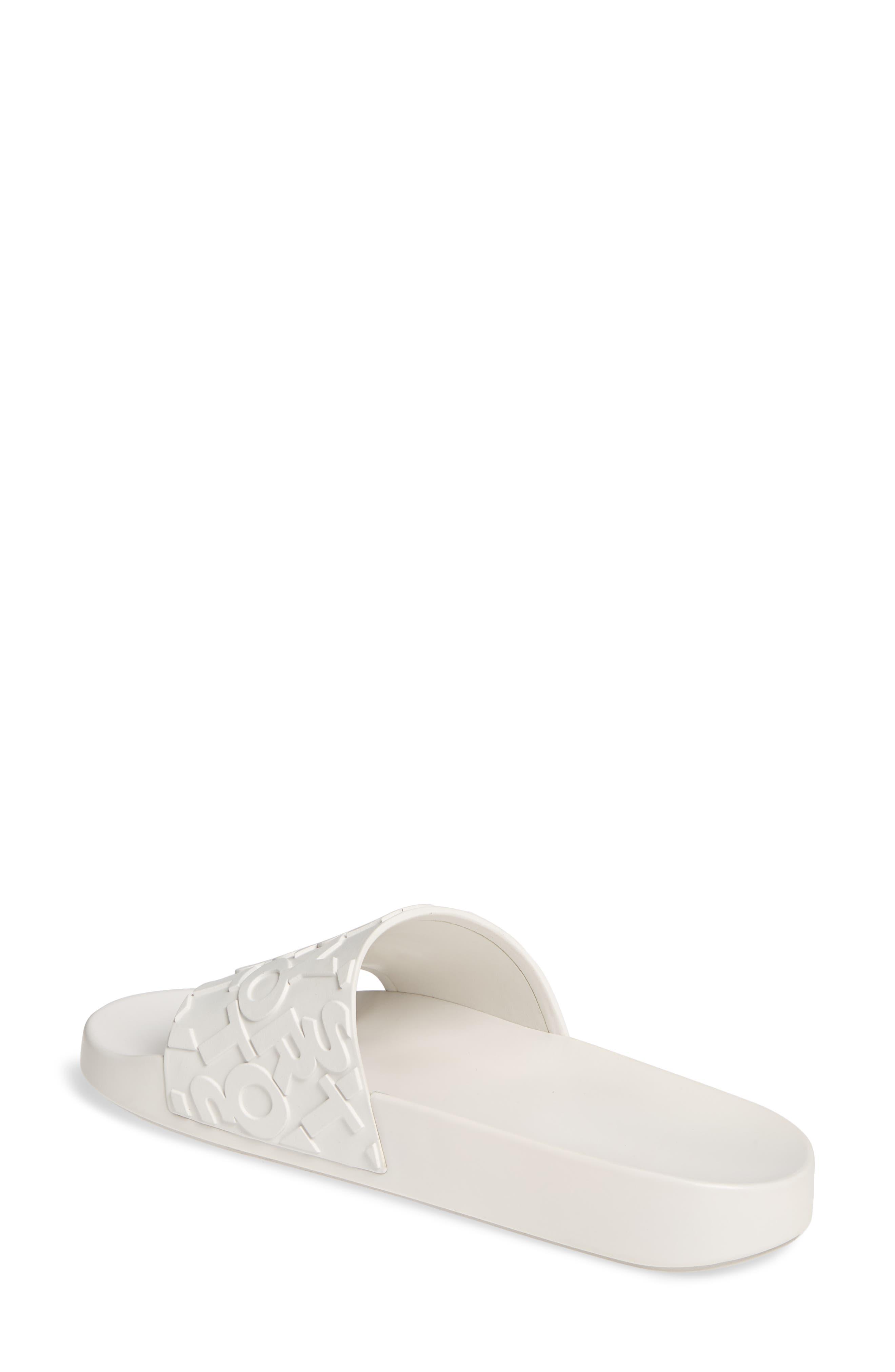 ,                             Tory Burch Embossed Logo Slide Sandal,                             Alternate thumbnail 2, color,                             OFF WHITE