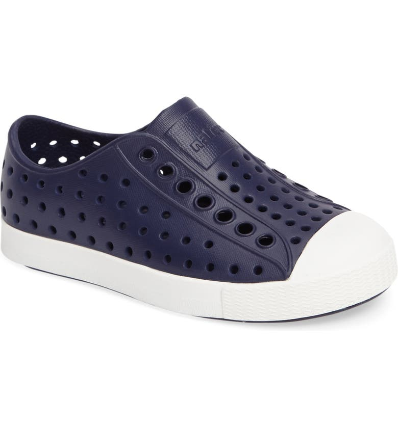 NATIVE SHOES Jefferson Water Friendly Slip-On Vegan Sneaker, Main, color, REGATTA BLUE/ SHELL WHITE
