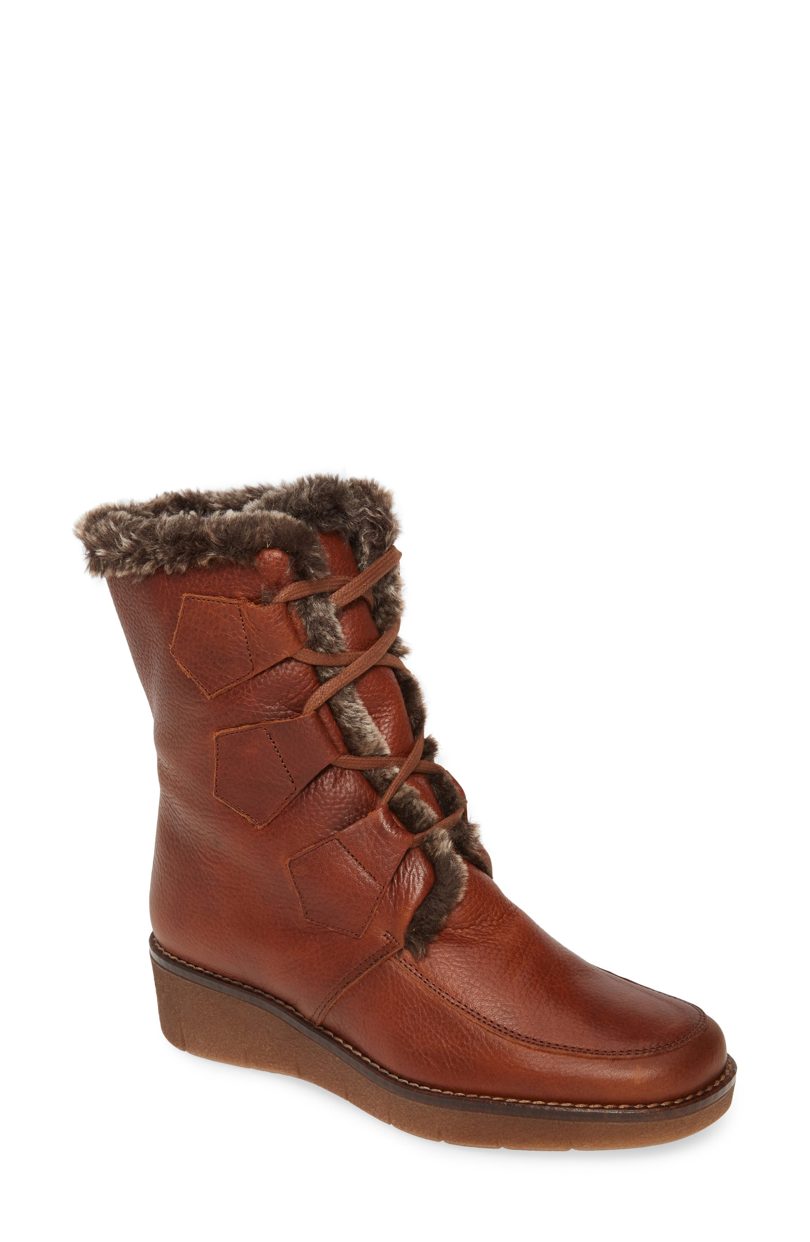 1940s Style Shoes, 40s Shoes Womens Toni Pons Ador Faux Fur Lined Bootie $258.95 AT vintagedancer.com
