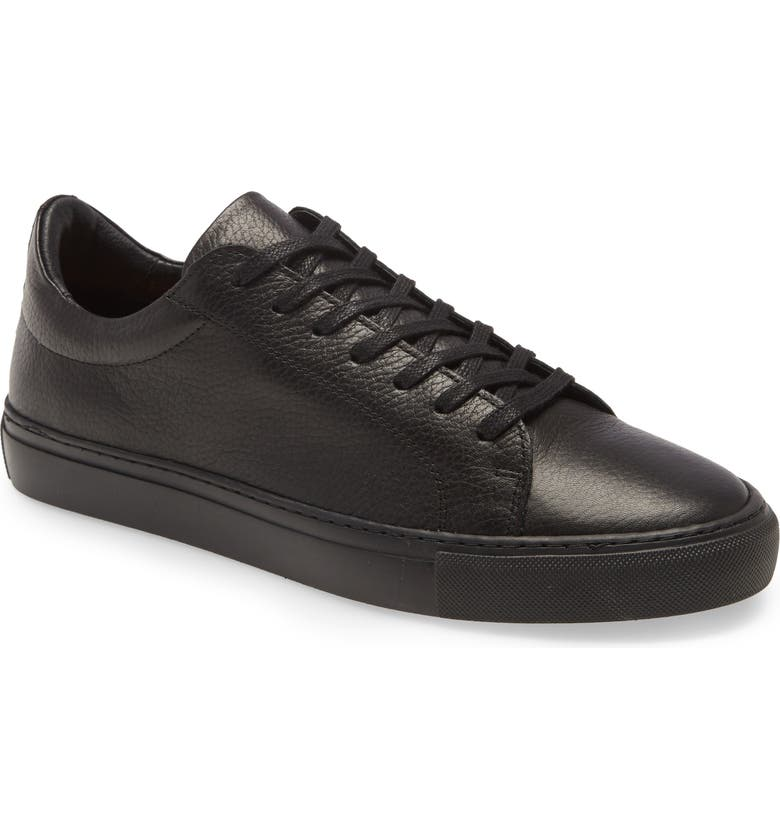 SUPPLY LAB Damian Lace-Up Sneaker, Main, color, BLACK TUMBLED/ BLACK