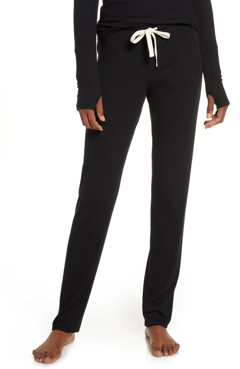 SKARLETT BLUE Daydream Lounge Pants, Main, color, BLACK