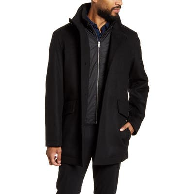 Boss Coxtan Wool & Cashmere Coat Black