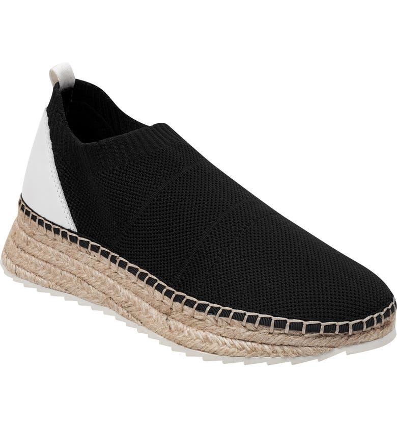 MARC FISHER LTD Jilly Espadrille Sneaker, Main, color, BLACK FABRIC