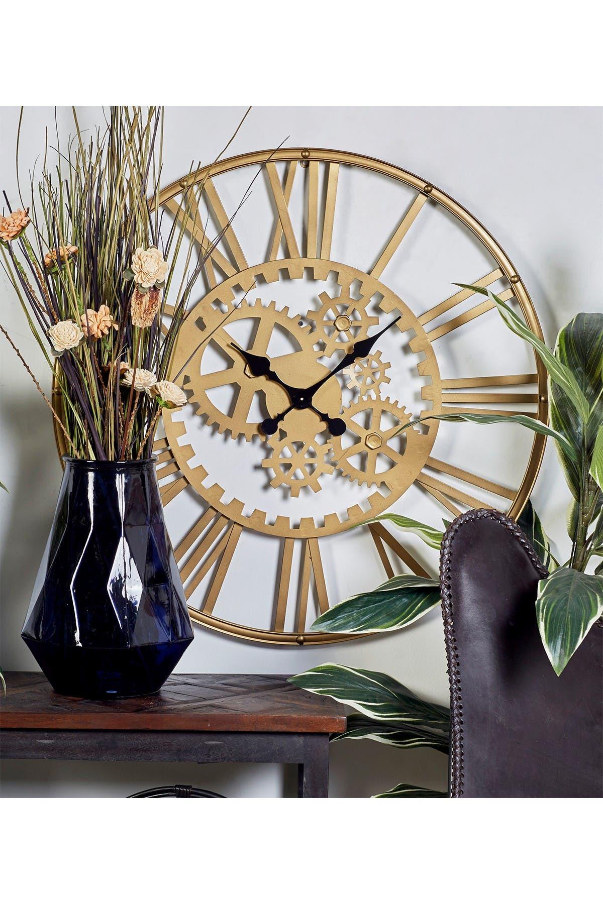 "Image of CosmoLiving by Cosmopolitan Metal Gear Wall Clock - 32"" Diameter"