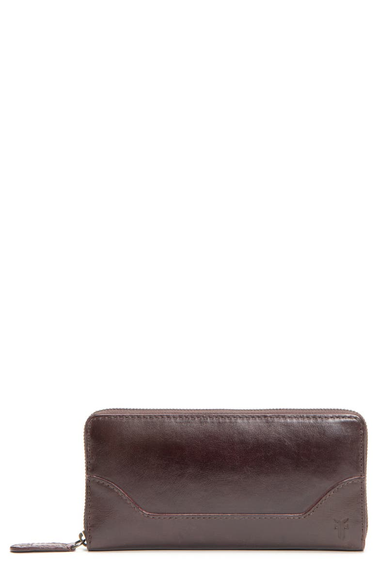 FRYE Melissa Leather Wallet, Main, color, MERLOT