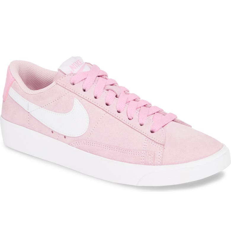 NIKE Blazer Low Sneaker, Main, color, PINK FOAM / WHITE/ WHITE