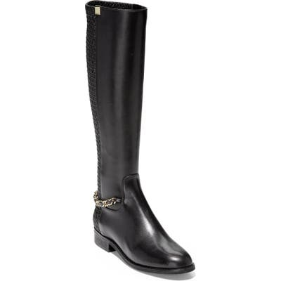 Cole Haan Idinia Stretch Knee High Boot B - Black