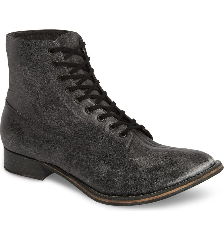 THE GREAT. Boxcar Lace-Up Boot, Main, color, 001