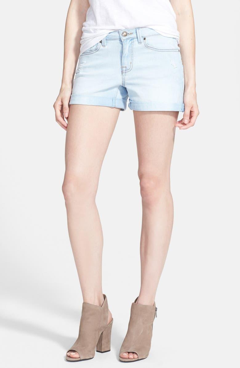 JESSICA SIMPSON 'Forever' Cuff Denim Shorts, Main, color, 401