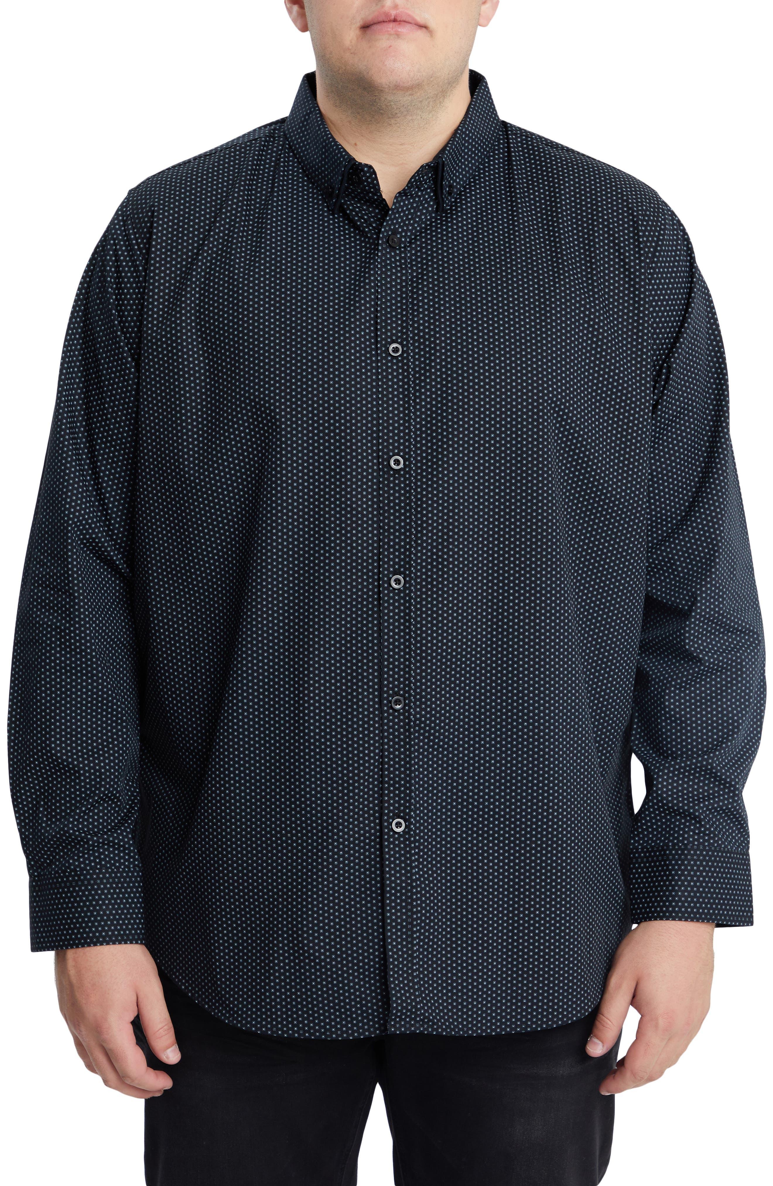 Men's Big & Tall Johnny Bigg Fletcher Stretch Button-Down Shirt
