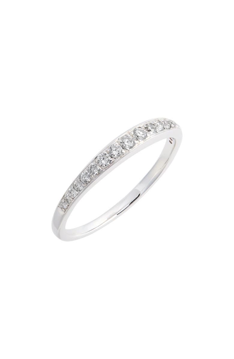 BONY LEVY Large Straight Diamond Band Ring, Main, color, WHITE GOLD/ DIAMOND