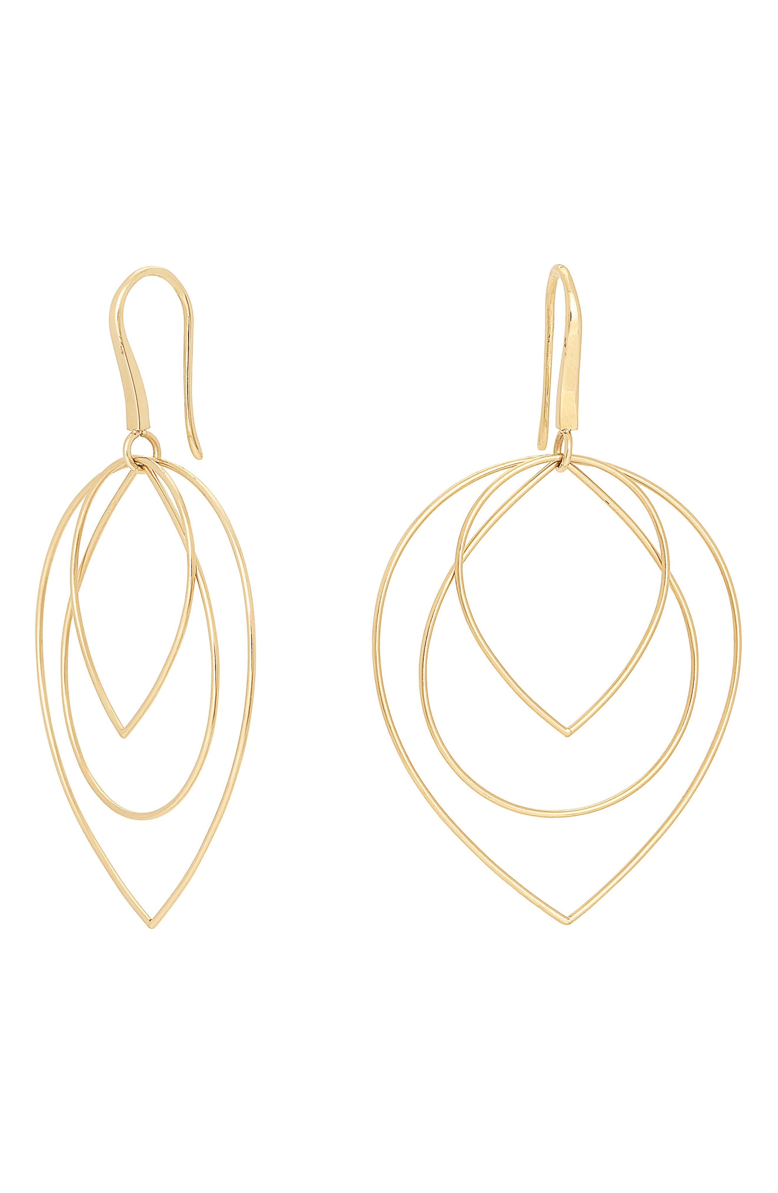 Tiered Hoop Earrings