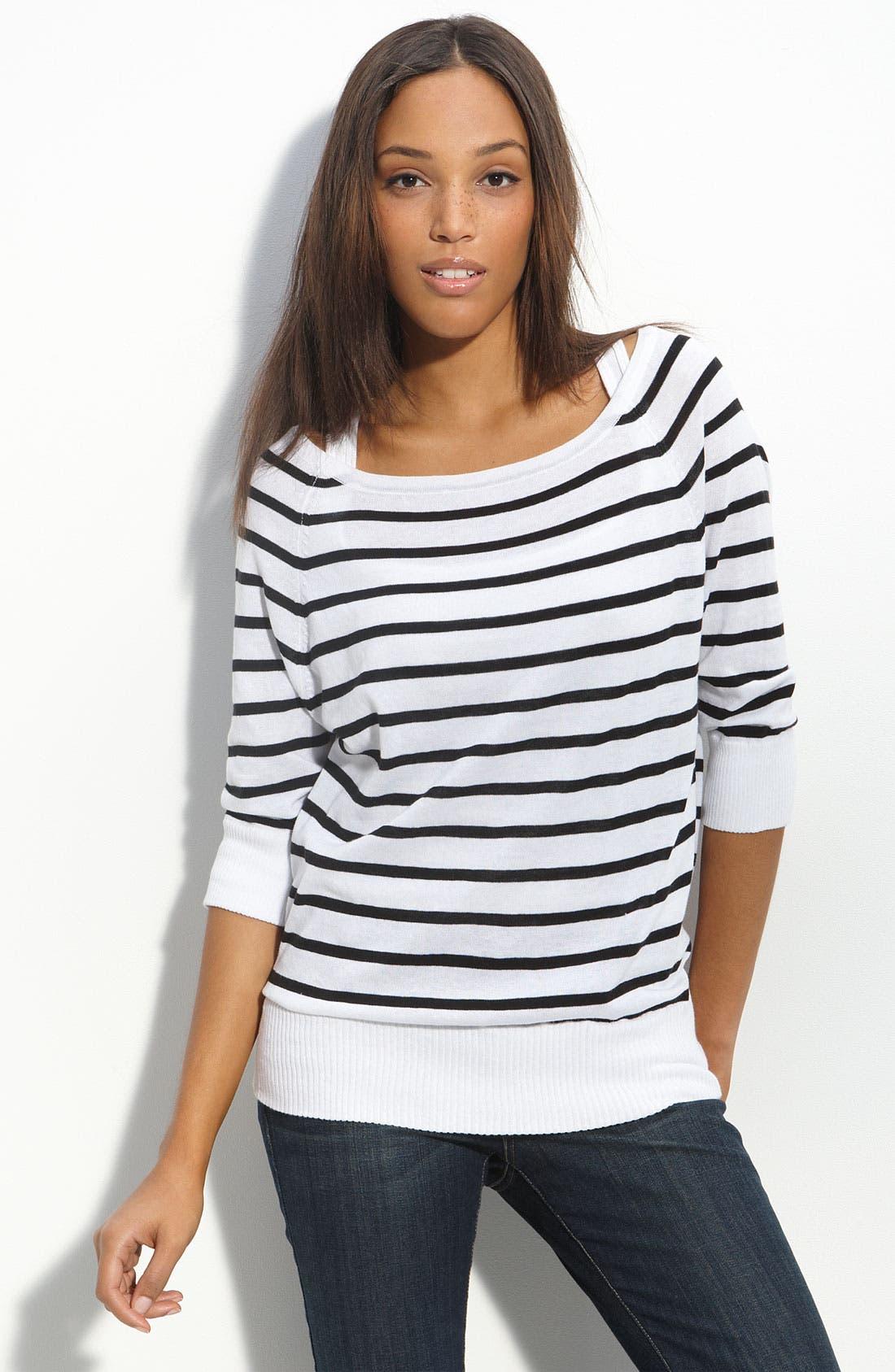 ,                             Stripe Sweater,                             Main thumbnail 1, color,                             101