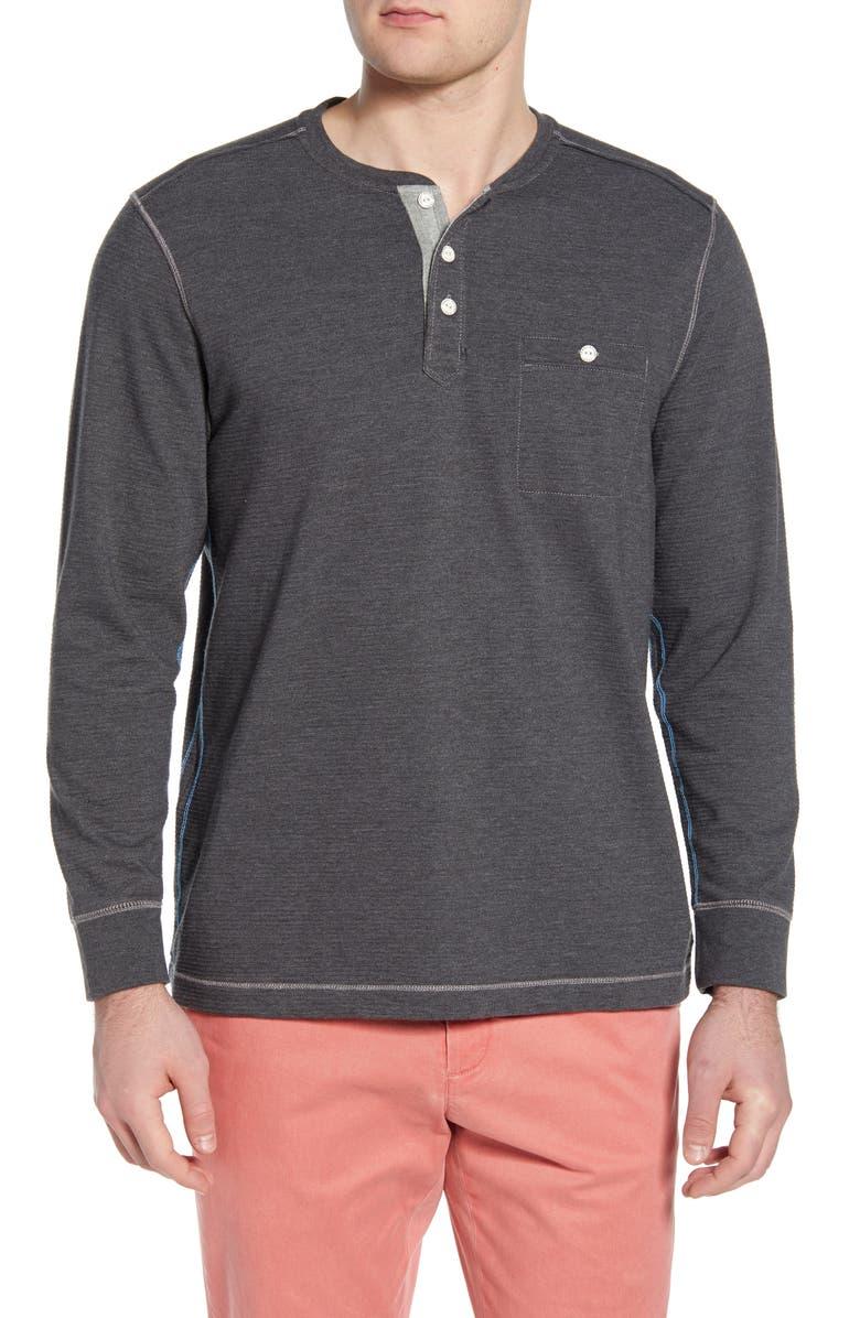 TOMMY BAHAMA Martin Bay Henley Shirt, Main, color, 001