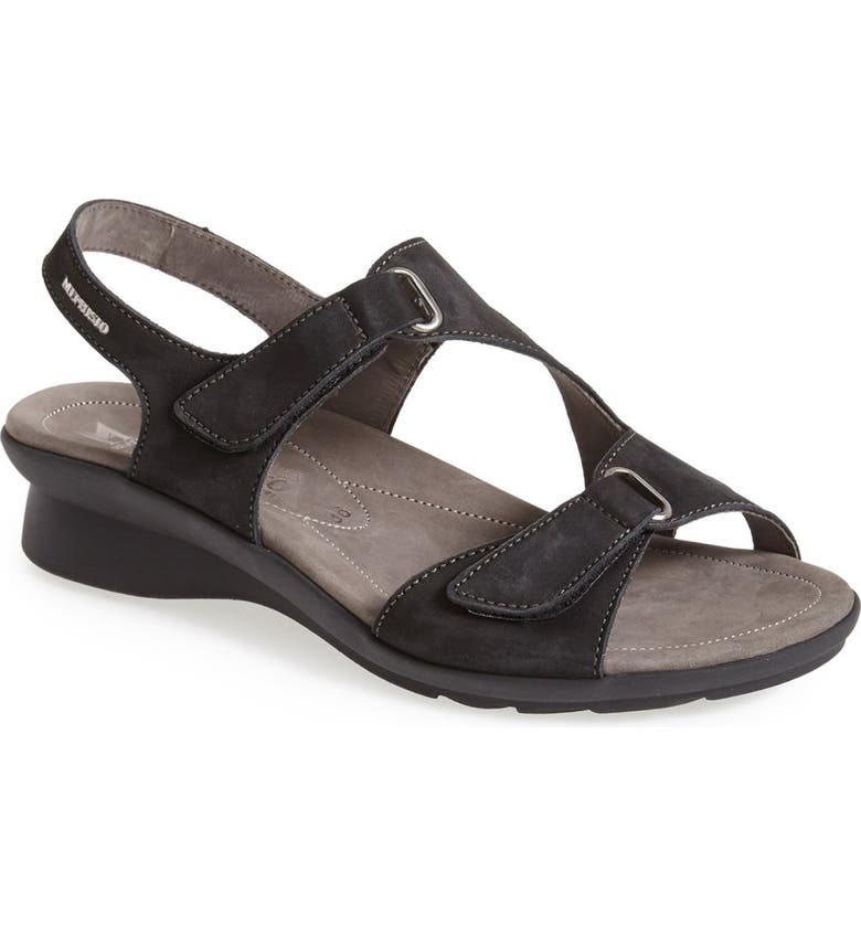 MEPHISTO 'Paris' Slingback Sandal, Main, color, BLACK