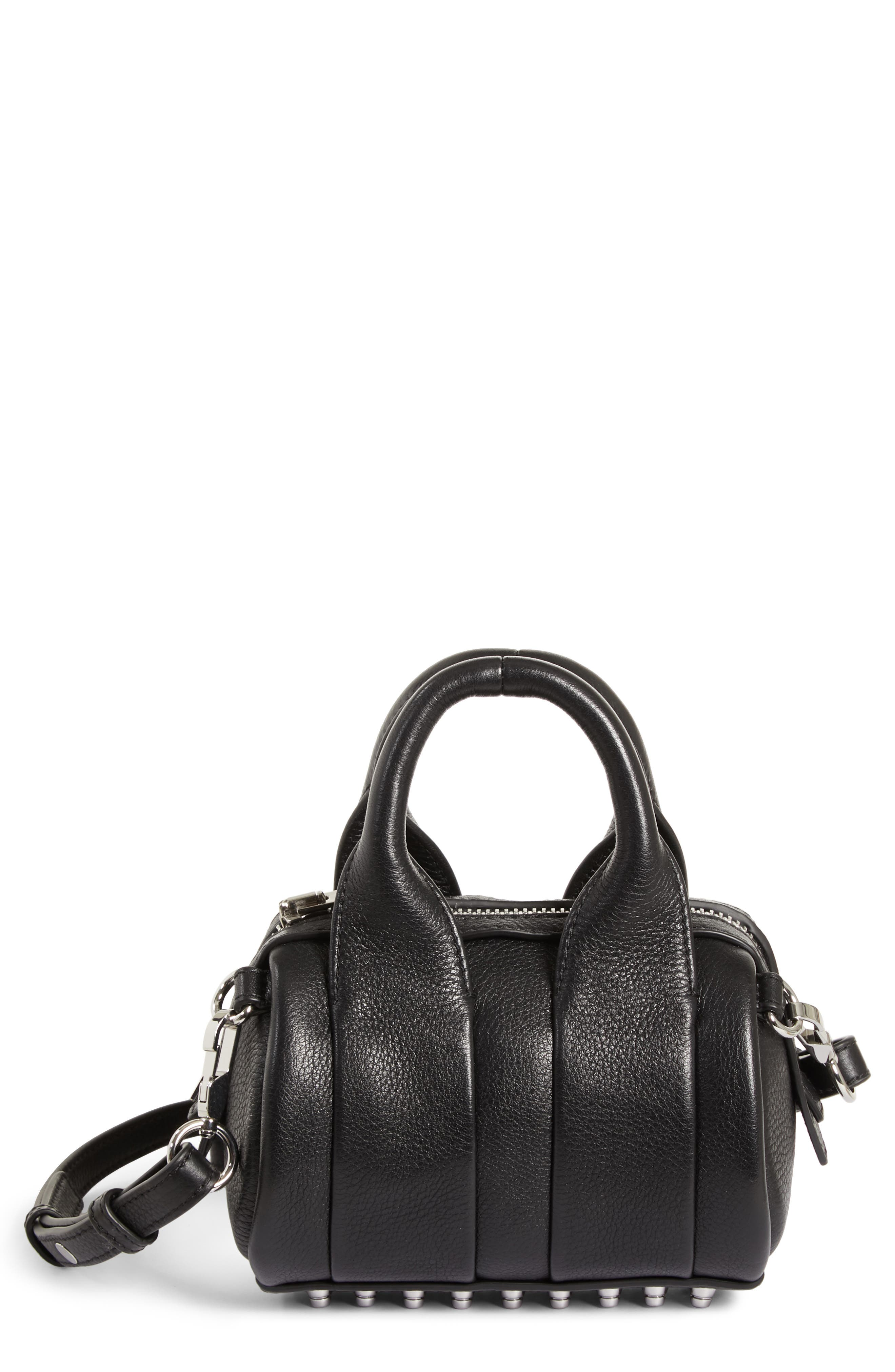 ,                             Baby Rockie Leather Satchel,                             Main thumbnail 1, color,                             001