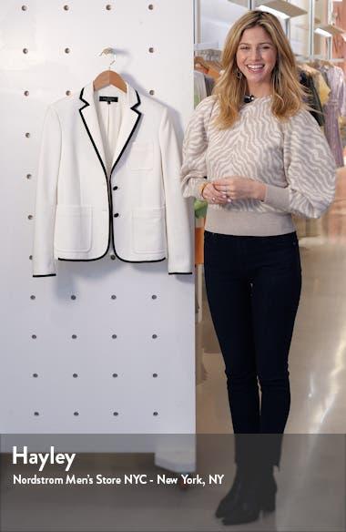 Nancie Cotton Blend Piqué Blazer, sales video thumbnail