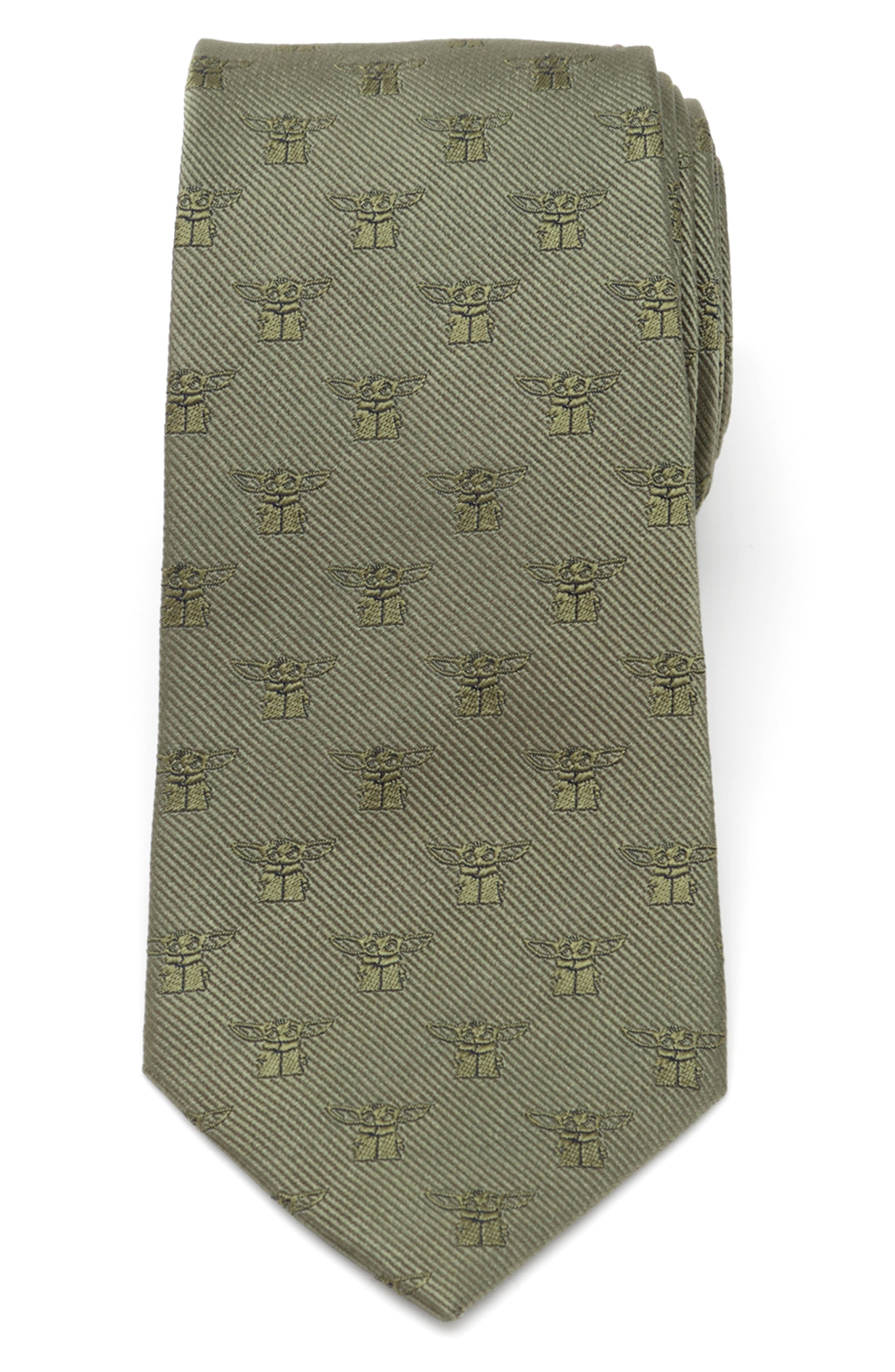 Crafted from Yoda-green silk and patterned in a ridiculously cute \\\'the Child\\\' grid, this tie adds a subtly playful touch to your formal looks-we have spoken. Style Name: Cufflinks, Inc. Star Wars The Mandalorian The Child Silk Tie. Style Number: 6171461. Available in stores.