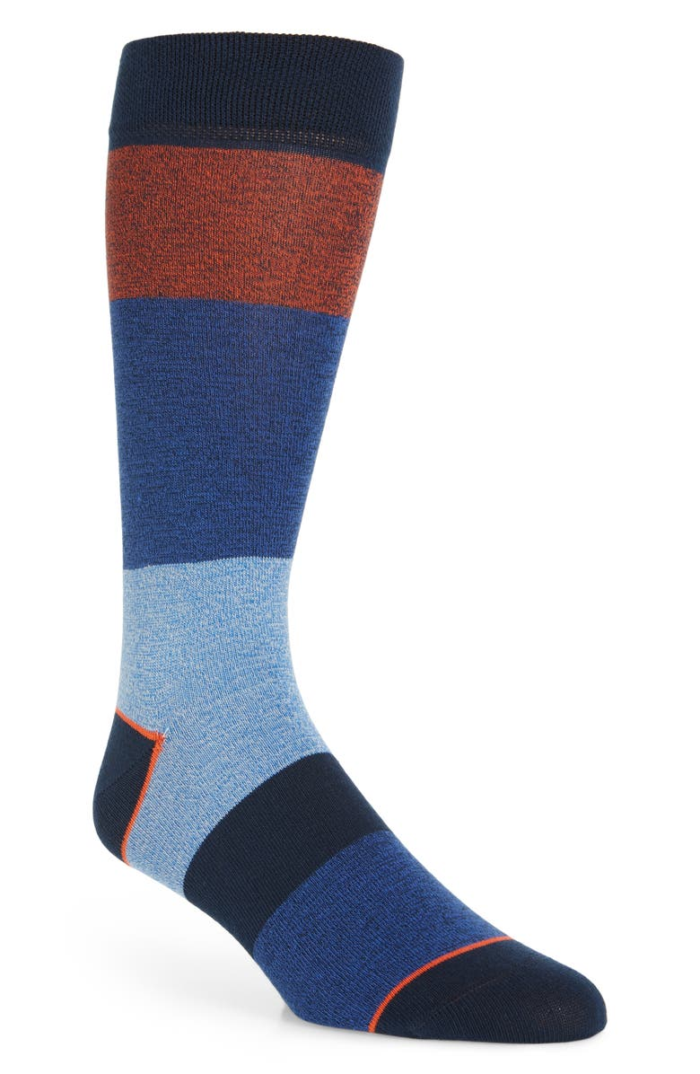 TED BAKER LONDON Hannel Colorblock Socks, Main, color, NAVY
