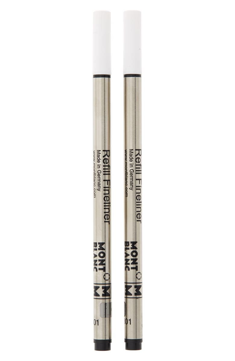 MONTBLANC 2-Pack Medium Fineliner Refills, Main, color, MYSTERY BLACK