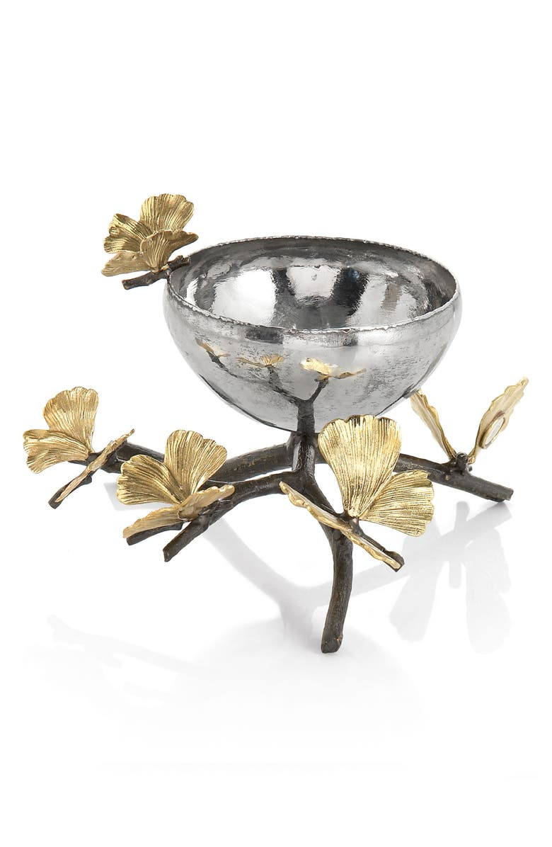 MICHAEL ARAM Butterfly Ginkgo Nut Dish, Main, color, SILVER