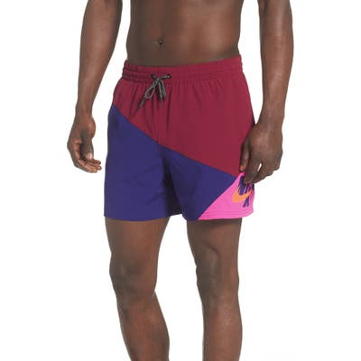 Nike Jack Knife Volley Swim Trunks, Red