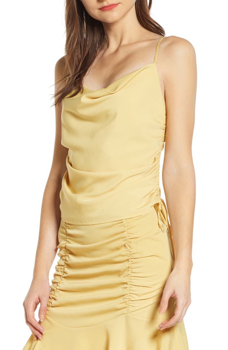 4SI3NNA Side Ruched Sleeveless Top, Main, color, 700