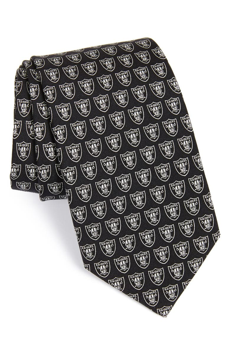 VINEYARD VINES Oakland Raiders - NFL Woven Silk Tie, Main, color, 001
