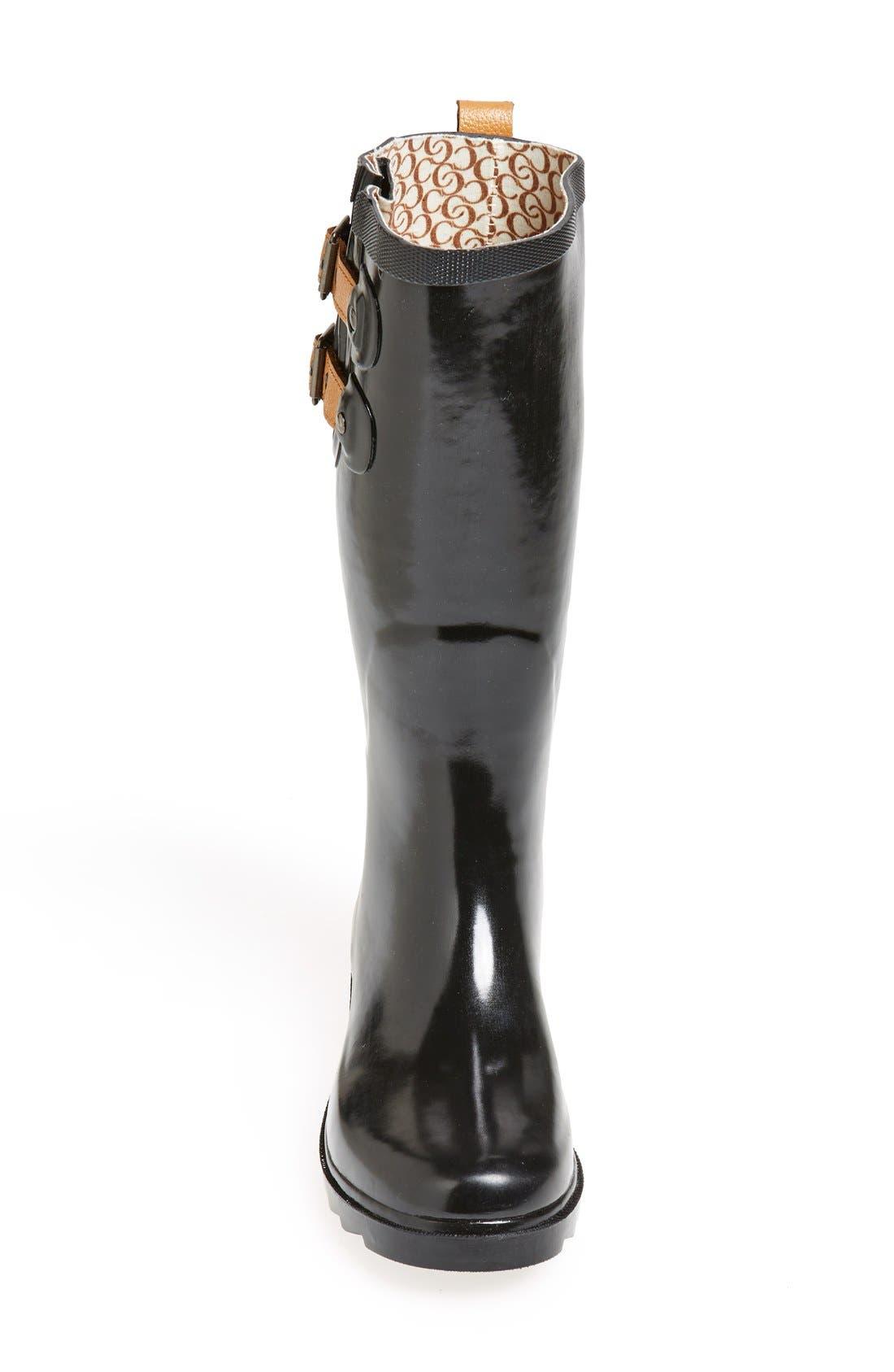 ,                             'Top Solid' Rain Boot,                             Alternate thumbnail 7, color,                             002