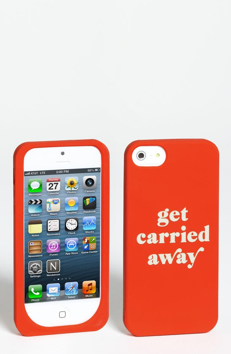 KATE SPADE NEW YORK 'get carried away' iPhone 5 & 5S case, Main, color, 645