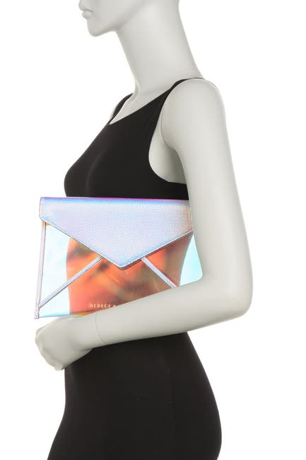 Image of Rebecca Minkoff Leo Holographic Envelope Clutch