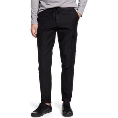 Acyclic Straight Leg Drawstring Flannel Cargo Pants