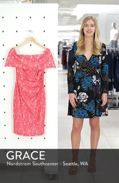Off the Shoulder Lace Sheath Dress, sales video thumbnail
