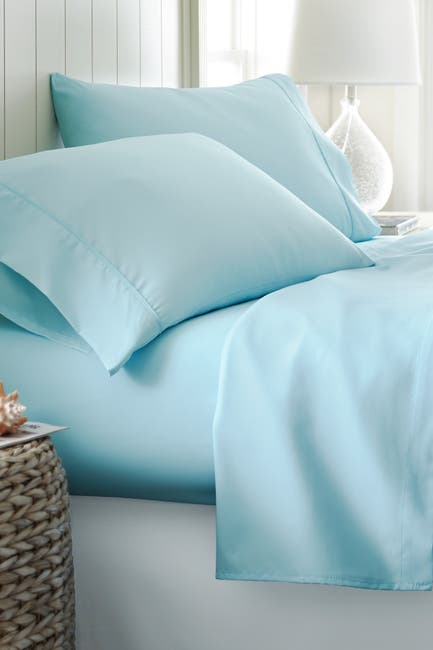 Image of IENJOY HOME Hotel Collection Premium Ultra Soft 4-Piece Queen Bed Sheet Set - Aqua