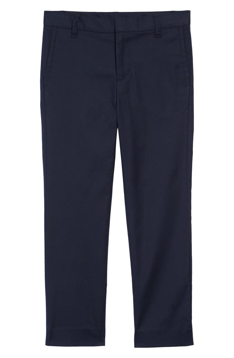 NORDSTROM Flat Front Chino Dress Pants, Main, color, NAVY ECLIPSE