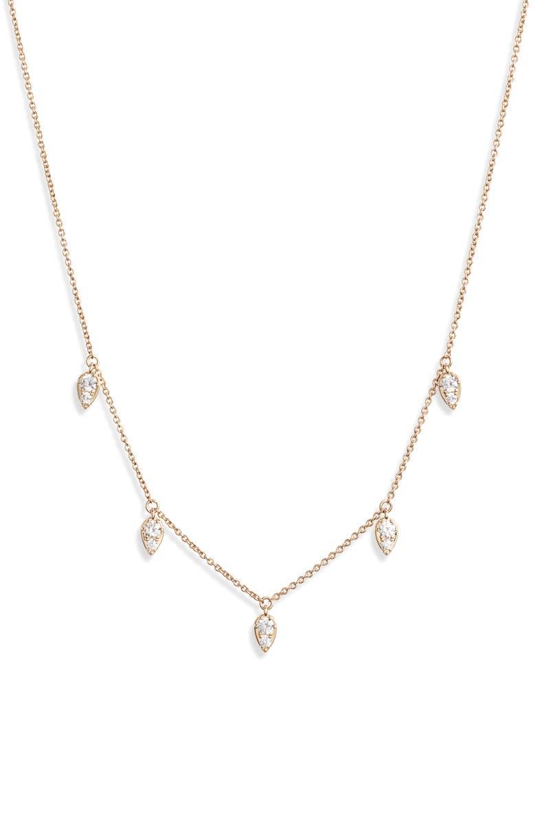 Shaky Cubic Zirconia Necklace by Nadri