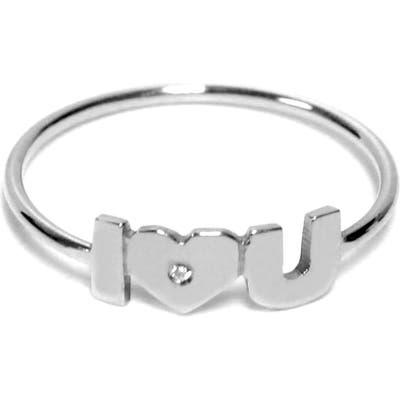 Jane Basch Designs I Heart U Diamond Ring
