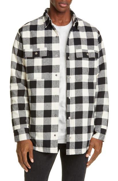 Ksubi Snap-up Flannel Shirt Jacket In Black Multi